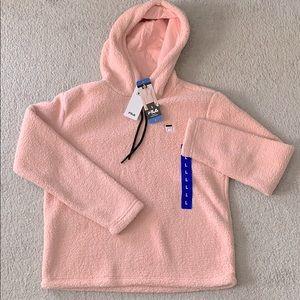 Baby pink Fila soft oversized hoodie sweater